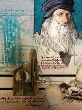 Vintage Signed Advertising Original Illustration—Bob Andrews—Leonardo da Vinci