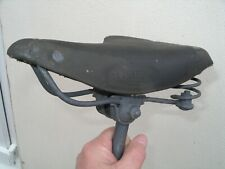 Vintage DUNLOP LEATHER BICYCLE SADDLE Cycle