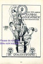 Farina gegenüber Reklame 1929 Kölnisch Wasser weiblicher Akt Jugendstil Parfum