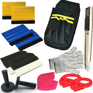 Car Wrapping Installation Tools Kit Vinyl Wrap Bag Squeegee Strong Magnet