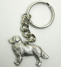 Bernese Mountain Dog Keychain Keyring Harris Pewter Made in Usa Key Chain Ring