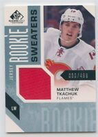 16/17 SP GAME-USED ROOKIE RC SWEATERS JERSEY MATTHEW TKACHUK 30/499 FLAMES 51442