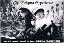 THE ENIGMA EXPERIENCE Rave Flyer Flyers A5 year unknown Monroes Blackburn Foggy