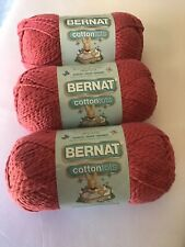 New listing Bernat Cottontots Yarn Lot Of 3 Skeins Country Red New