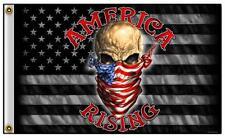 American Rising Skull W Usa Bandana 3 X 5 Motorcycle Biker Deluxe Flag #773 New