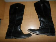 Frye Melissa 77167 Women's Size 7 Black Leather Riding Boots Tall - Fast Ship