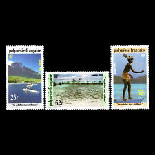French Polynesia 1991 - Stone Fishing - Sc 571/3 MNH