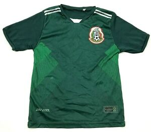 MEXICO Soccer Jersey Youth Size Small S Kids Dry Fit Green Short Sleeve Futball