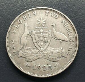 Australian Silver 1925 Florin