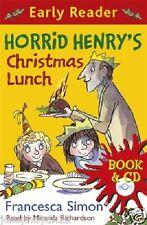 NEW  Early Reader BOOK & CD - HORRID HENRY'S CHRISTMAS LUNCH  Horrid Henry