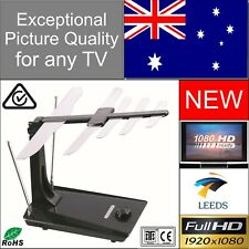 Indoor Digital TV Antenna Top Picture Quality! 80 km Range High Gain Amplifier