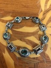 & Purple Looks Vintage Silver Sparklkng Bracelet —Jewelry—Light Blue