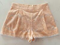 Shona Joy Pale Pink Lace Cut Out Shorts Size 10 EUC