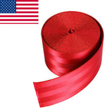 3.6M DIY Red Seat-belt Nylon Polyester Webbing Closeout 1.9 inch x 141.7inch US