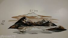 RV CAMPER HORSE FEMA TEARDROP TRAILER DECAL SET MOUNTAIN LAKE SKY SCENE 51x19