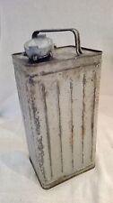 Bidon essence, métallique ancien, déco industriel, atelier, garage. 05A242