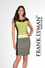 frank lyman 66544 Black/Lime Dress size 16