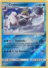 Crabominable 43/149 Sun & Moon REVERSE HOLO MINT! Pokemon