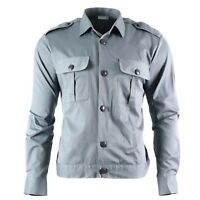 Original Austrian army shirt Grey Military service long sleeve BDU NEW