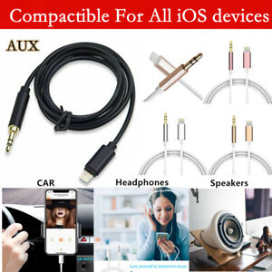 Aux Cable 3.5mm Lead Car Stereo Transfer Audio Music For iPhone 11 12 13 Pro Max