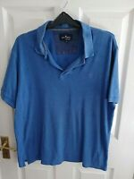 MARKS & SPENCER BLUE HARBOUR MENS POLO SHIRT BLUE SIZE SMALL REGULAR FIT