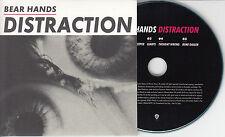BEAR HANDS Distraction Sampler 2014 UK 5-trk promo test CD