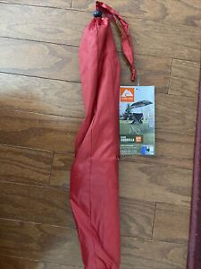 OZARK TRAIL Chair Umbrella With Universal Clamp, Red UPF 50 Clips on chair NWT
