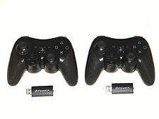 ( Lot of 2 ) Power A Wireless Controllers For PlayStation 3, Black *** NICE ***