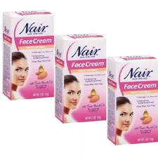 Lot of 3 Nair Hair Remover Moisturizing Face Cream 2 oz New