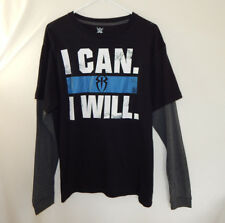 Roman Reigns I Can I Will WWE WWF Wrestling Long Sleeve Shirt Size LARGE L