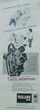 PUBLICITE PAILLARD BOLEX CAMERA 16 MM H 16 REFLEX 3 OBJECTIFS DE 1960 FRENCH AD