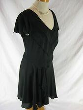 Size 12 Black Tea style day dress by LEONA EDMISTON Main Line- Designer LBD