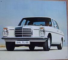 Altes Blechschild Oldtimer Mercedes Benz W 114/115 Reklame gebraucht used