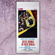 Original Movie Poster Locandina Originale Sette Scialli Di Seta Gialla 33x70 CM