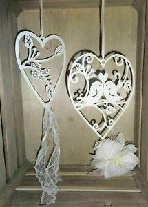 Dekohänger Fensterdeko weiß Metall Frühling Vogel Schmetterling Hochzeit Spitze
