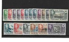 FALKLAND ISLANDS. SG146-163 DEFINITIVE SET  UNMOUNTED MINT SET