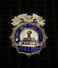 Fort Lee New Jersey Nj Super Bowl Fireman Fire Badge Cairns Helmet Braxmar Reese