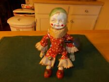 EARLY 1900S  MADE OF HARD PLASTIC SUMERSAULTING CLOWN WITH ORIGINAL CLOTHES KEY