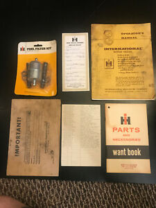IH INTERNATIONAL HARVESTER Fuel Filter NOS + 1960 Operators Manual + More Docs..