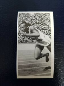 Jesse Owens Track and Field #2 Star Olympic Challenge 1992 United Kingdom Card