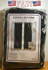 """Window Curtains Blackout Room Thermal Insulated 2 Panels 52Wx63L"""" Utopia Bedding"""