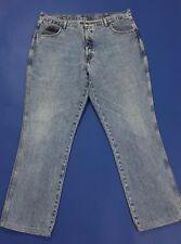 Wrangler jeans W42 tg 56 gamba dritta straight accorciati denim usati uomo T2305