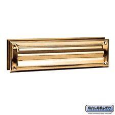 Salsbury Mail Slot - Standard - Magazine Size - Brass Finish-MAILBOX 4045B NEW