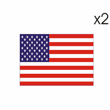 2 Stickers plastifiés DRAPEAU ETATS-UNIS - USA - Harley Buell - 5cm x 6,5cm