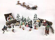 Christmas Holiday Mini Figurines Lot of 25