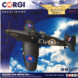 CORGI AVIATION ARCHIVE 1/72 AA39304 BOULTON PAUL DEFIANT MKI  *SPECIAL ED + MIB*