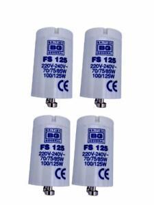 6 Pack BG General Tube Strip Light Starter Bulb 220-240V FS 125 70/75/85w100/125