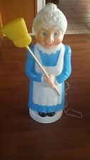 NEW Union Blow Mold Blue Lady broom Lawn ornament Garden decoration spring