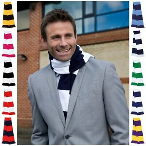 Football Team Scarf Striped Stripe Colour Sport Supporter Rugby University Scarf