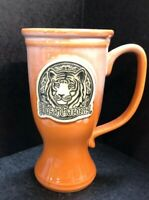 Busch Gardens Large Ceramic Beer Mug With  Black And White Tiger New!!!